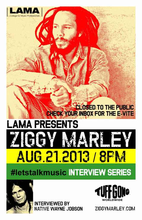 Ziggy Marley at LAMA, #LetsTalkMusic