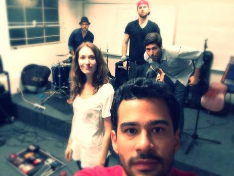 LAMA Alumni band The Fetching finish rehearsal in advance of tonight's show with Everclear.