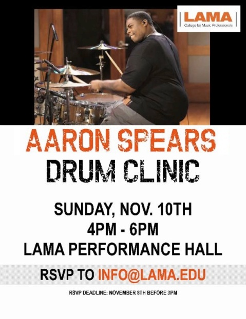 LAMA - Aaron Spears drum clinic
